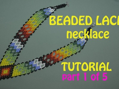 12: 1.5: V-neck Beaded Lace Necklace. TUTORIAL IN ENGLISH! THUMBS UP!!!