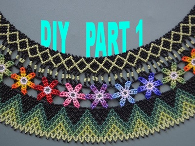 2: Part 1.4: Spring Flowers necklace. Tutorial in English!