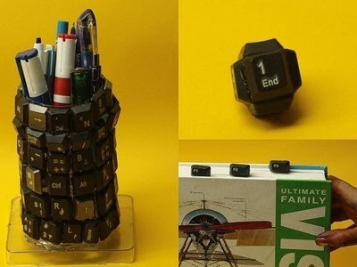 3 Amazing Life Hacks With Keyboards DIY Art from waste