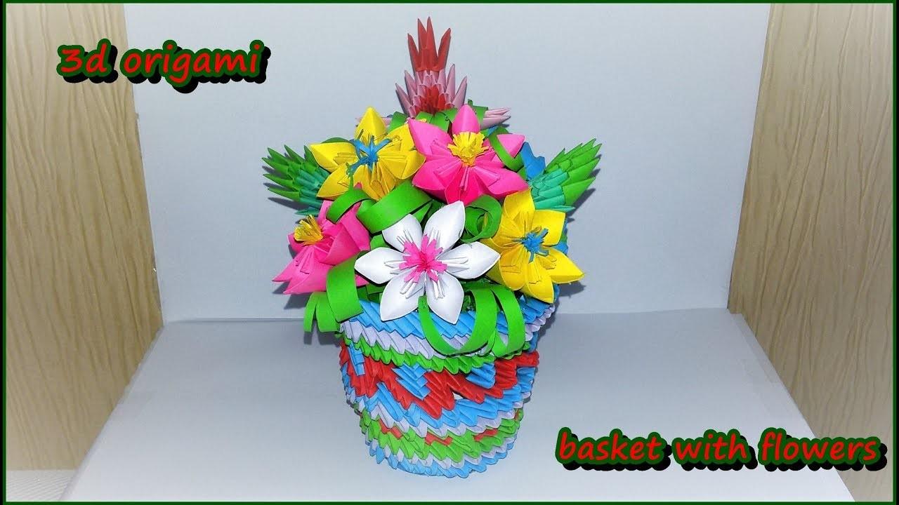 3d origami flowers baskettutorial mightylinksfo