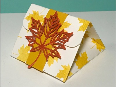Autumnal Triangular Gift Box - Video Tutorial with Colourful Seasons by Stampin' Up