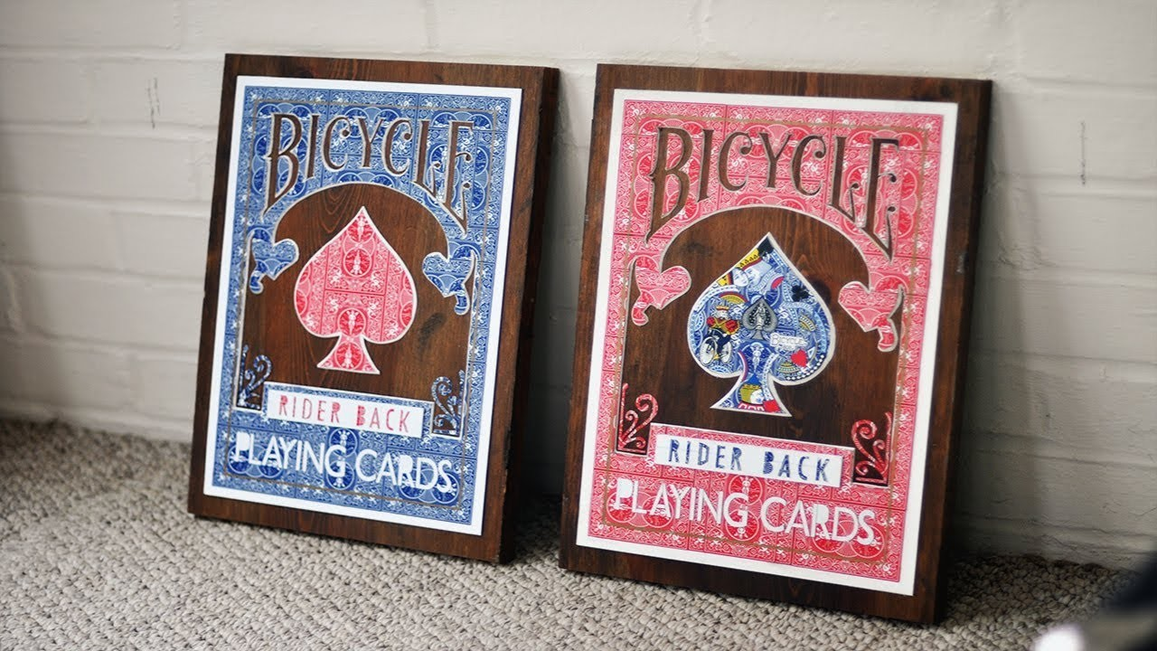 Bicycle Playing Card DIY Wall Art