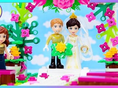 Custom Lego Friends Wedding Build and Bride Dress up Craft DIY Kids Toys