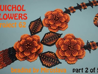 DIY 2.5: Red Huichol Flowers Necklace
