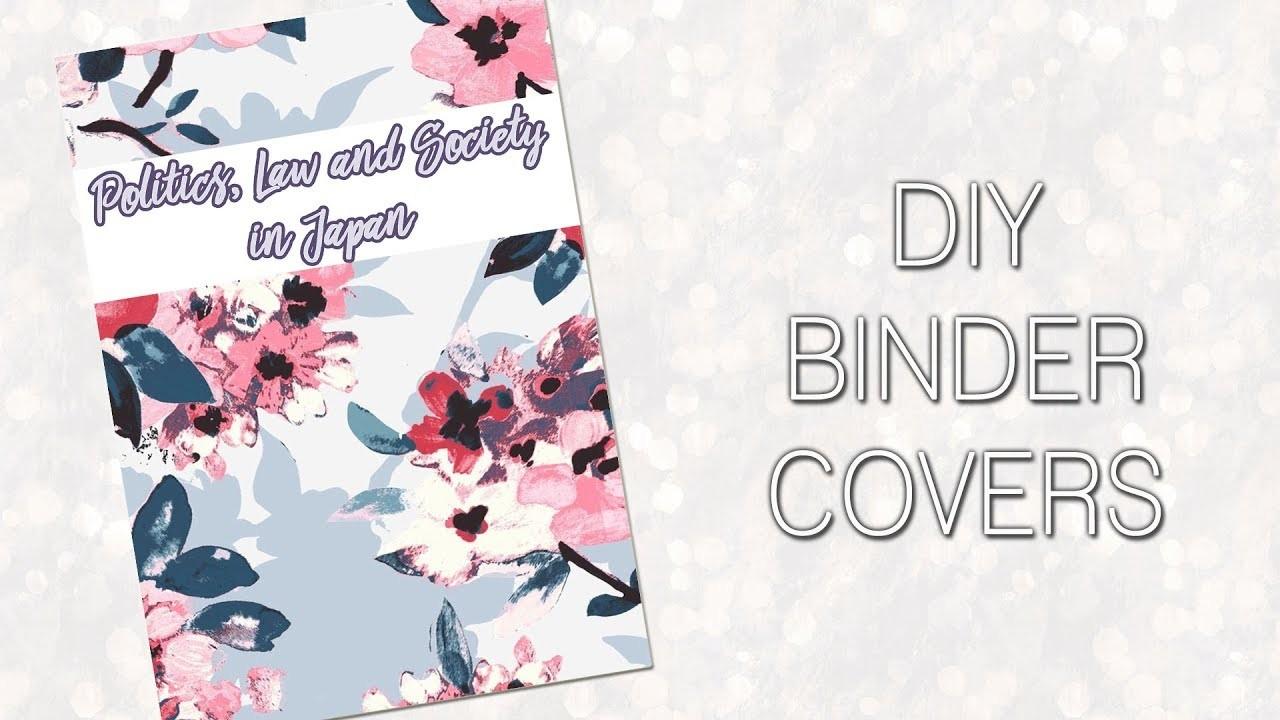 DIY Binder Covers || Back to School.College