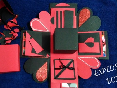 DIY Black and Red Layered Explosion Box