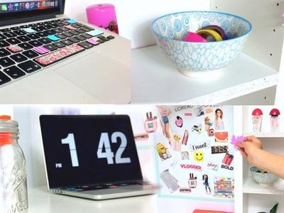 Diy desk decor and organisation
