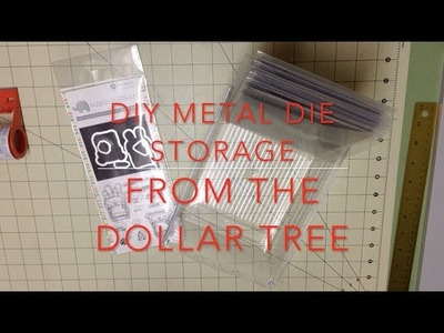 DIY Die Storage from the Dollar Tree