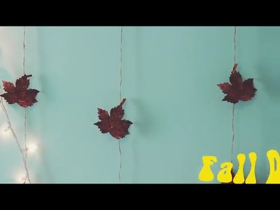DIY FALL ROOM DECOR! HOW TO MAKE YOUR ROOM CUTER FOR FALL!