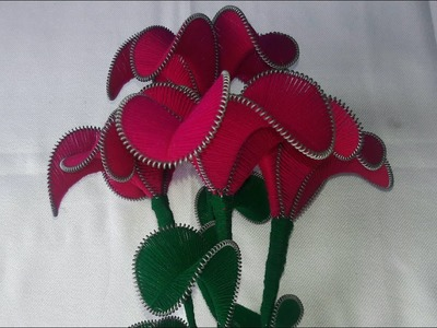 DIY flower | How to make yarn and wire flower.