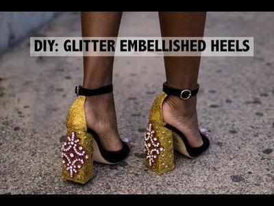 DIY: GUCCI INSPIRED SNAKE GOLD HEEL (Glitter Shoe)