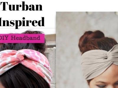 DIY Headband Out Of T shirt - Turban Inspired Headbands
