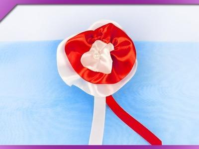 DIY How to make ribbon cockade (ENG Subtitles) - Speed up #405