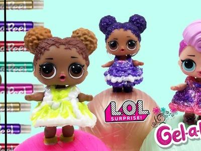 DIY LOL CUSTOM Doll Dresses With Gel-A-Peel   How To Make LOL Dresses With Gel A Peel