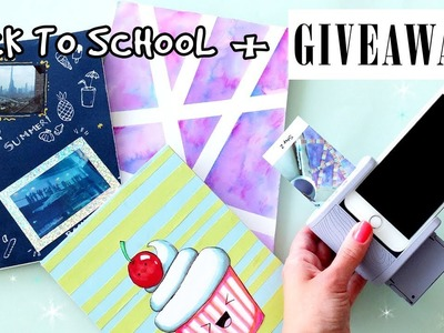 DIY NOTEBOOKS  for BACK TO SCHOOL+ GIVEAWAY 2017! (CLOSED)