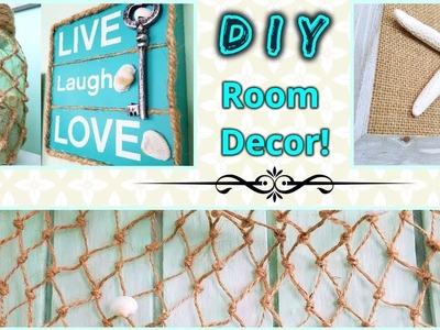 DIY ROOM DECOR! Beach Theme Ideas