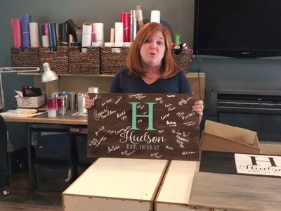 DIY Wood Guest Book Signs at the Today's Bride Wedding Show Oct 15, 2017
