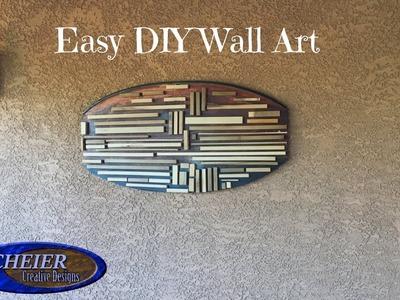 Easy To Make Wall Art. DIY Wood Art