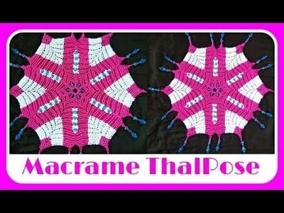 Easy Tutorial Of Macrame Thali Pose.Plate Cover in Hindi At Home