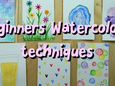 Easy watercolour techniques - DIY greetings cards