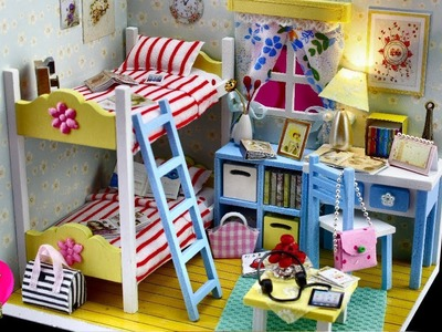 Ever Youth, DIY Miniature Dollhouse Kit With Working Lights