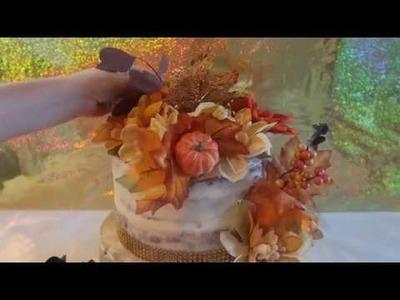 Fall Cake   Naked Cake   Dollar Tree Decoration Cake   DIY & How to   Fall Wedding Cakes