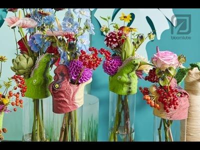 Fun flower vase arrangement Bloomtube Floral Inspiration How to make Tutorial