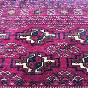 Hand-Knotted Vintage Afghan Decorative Tribal Baluchi Cushion Cover Area Rug