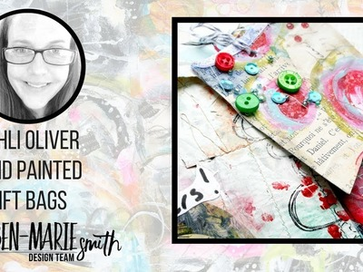 Hand Painted Gift Bags - Mixed Media Tutorial