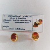 Hessonite Garnet Earrings/ Gift for her/ Valentines  Day gift for her