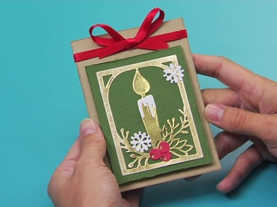 Holiday Cardmaking Die Cut Candle Tutorial | Katelyn Lizardi for Sizzix