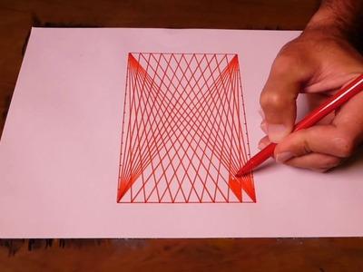 How TO Draw 3D-4D Geometric Rectangle Art | Spirograph Tutorial