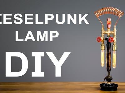 How To Make Dieselpunk Industrial Pipe Lamp DIY
