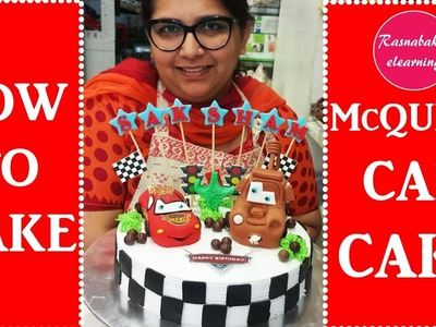 How to make Mcqueen car cake:cake decorating tutorial