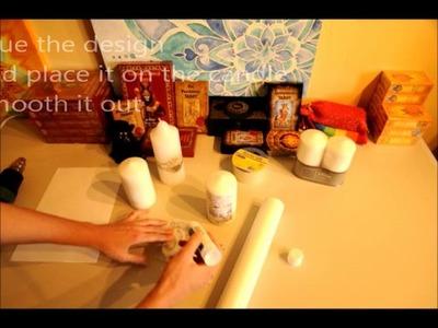How to make Tarot Candles DIY
