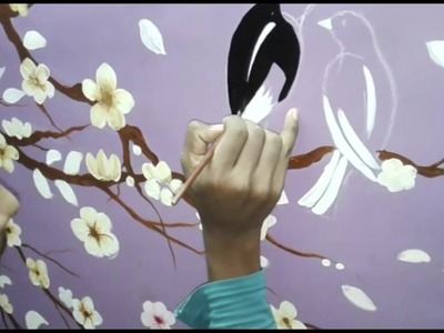 How to paint a tree on wall | Wall painting tutorial
