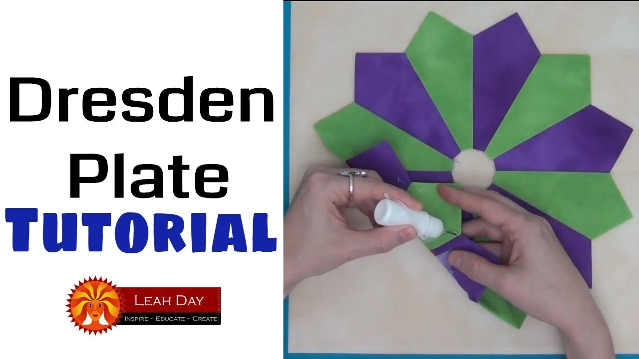 How to Piece a Diamond Dresden Plate Quilt Block - Beginner Quilting Tutorial with Leah Day