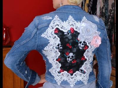 Let's Make Stuff! DIY Lace Denim Jacket