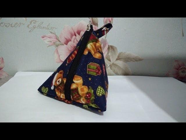 Make your easy cute pouch| DIY| Cara membuat tas koin