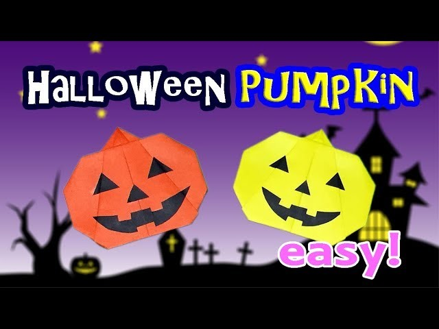 Origami Pumpkin Tutorial - Jack O' Lantern - Cheap and Easy Halloween Decoration Crafts for Kids