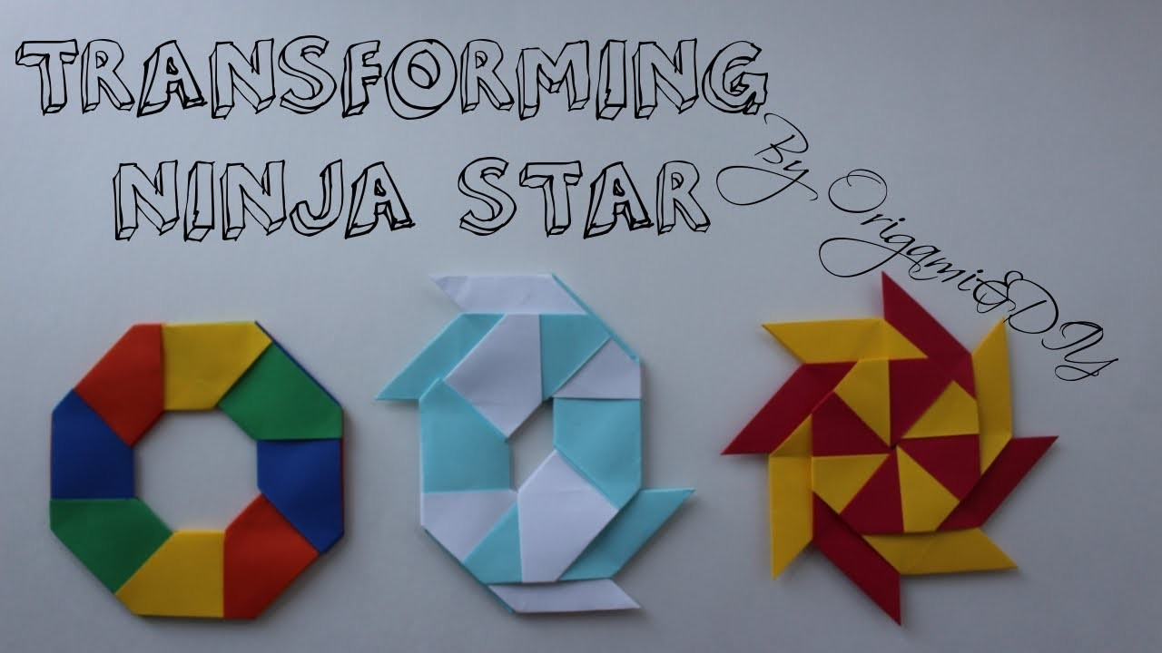 Origami: Transforming Ninja Star (Easy and Fast), Tutorial ... - photo#6