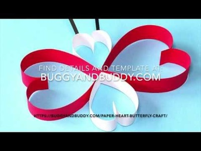 Paper Heart Butterfly Craft for Kids