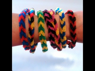 Pipe Cleaner Bracelet  DIY Ideas For Kids   Recycled Arts And Crafts