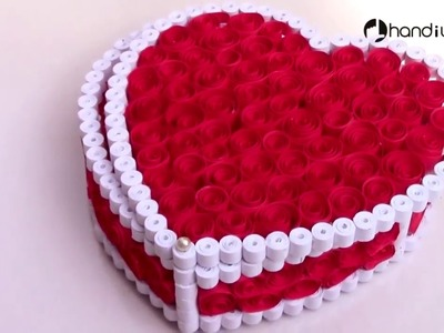 Quilling Gift Box Ideas  DIY Heart for Valentine    Hindi technical world