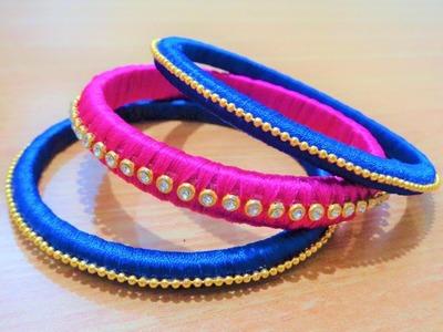 Silk Thread Fancy Bangles | DIY - Very Simple and Easy | Must Watch
