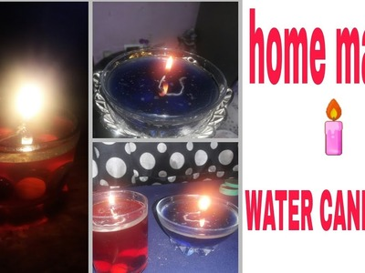 SIMPLE  deewali decorations.DIY.WATER CANDLES. how to make simple and easy WATER CANDLE at home