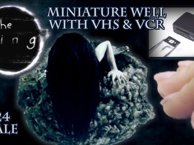 The Ring Miniature Well with VHS & VCR Halloween Tutorial | Dollhouse | How to Make 1:24 Scale DIY