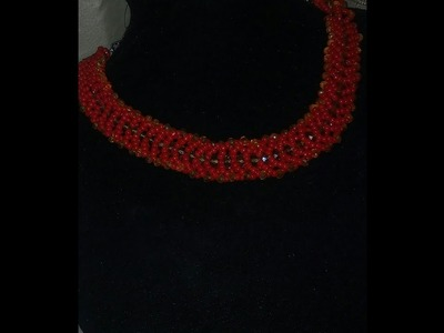 The tutorial on how to make this beautiful necklace bead he