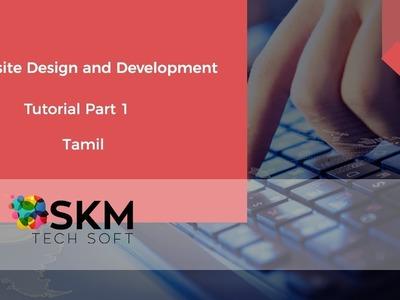 Web design and development tutorial in tamil