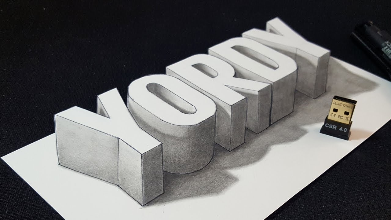 crafts that sell 3d letters how to draw 3d yordy name easy trick drawing 1772